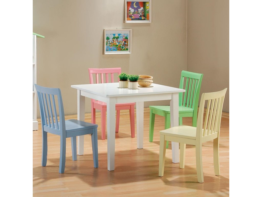 Coaster Kinzie5 Piece Youth Table and Chair Set