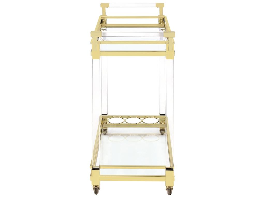 Coaster Kitchen Carts 181000 Modern Acrylic Serving Cart   Dunk ...