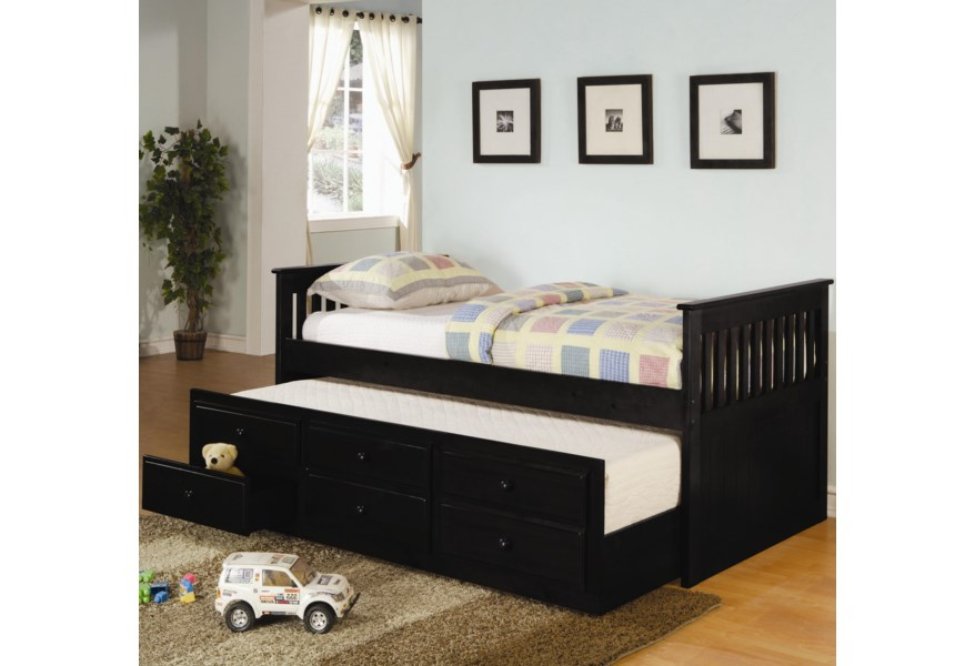 Coaster La Salle 300104 Twin Captain S Bed With Trundle And