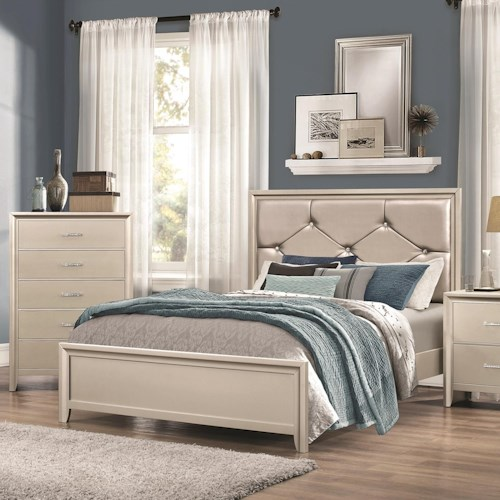 Coaster Lana King Bed with Upholstered Headboard