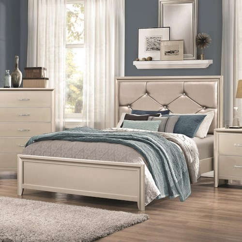 Coaster Lana Queen Bed with Upholstered Headboard
