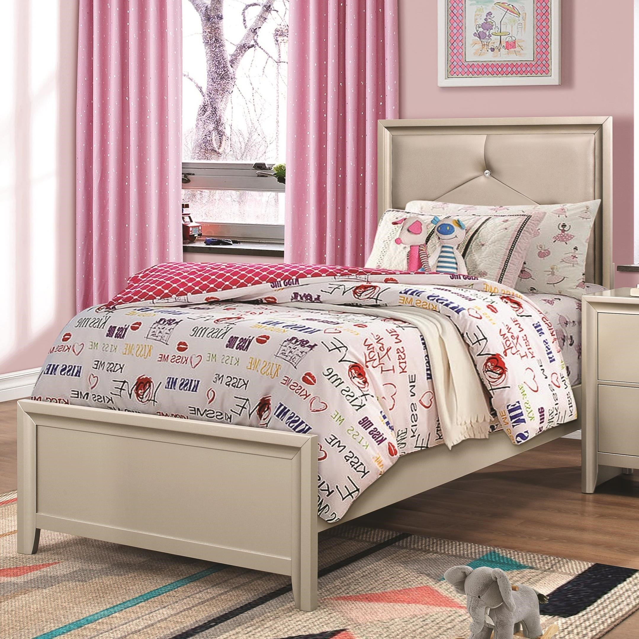 Coaster LanaTwin Bed With Upholstered Headboard ...