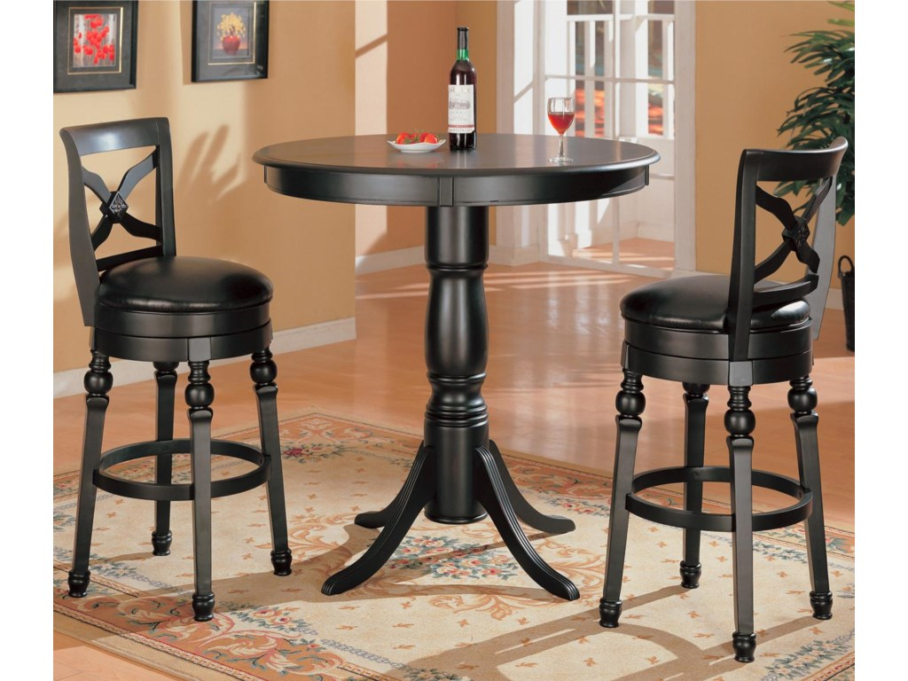 Coaster Lathrop 3 Piece Bar Table Set Value City Furniture Pub