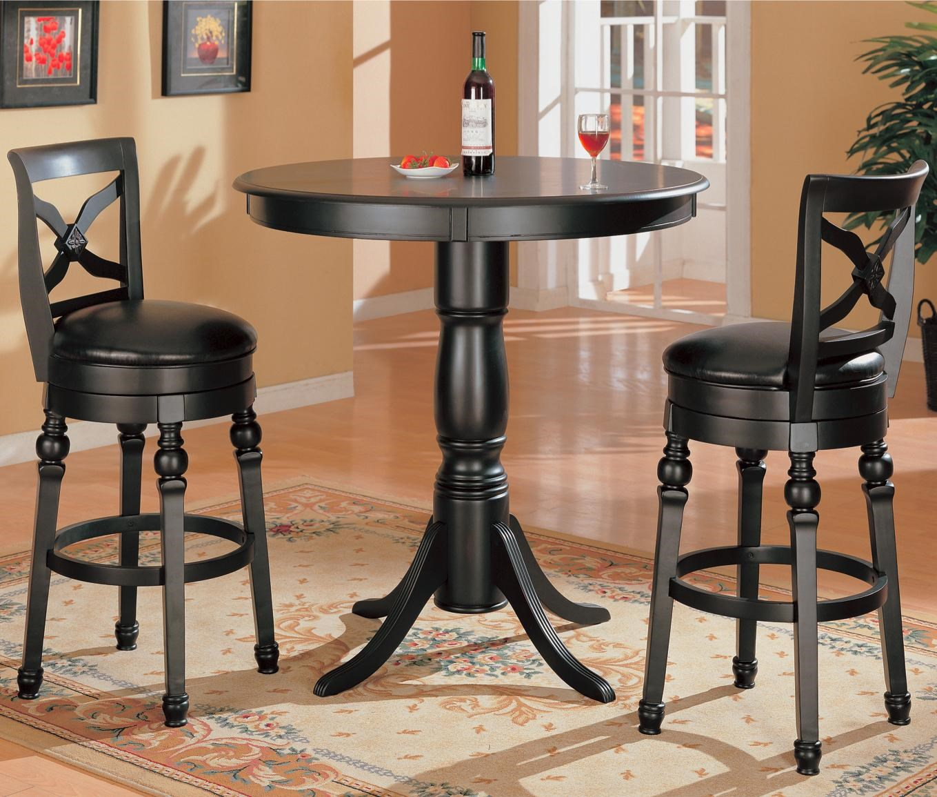 Beau Coaster Lathrop3 Piece Bar Table Set
