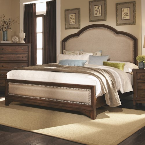 Coaster Laughton Casual King Upholstered Bed Dream Home Furniture Upholstered Beds Roswell