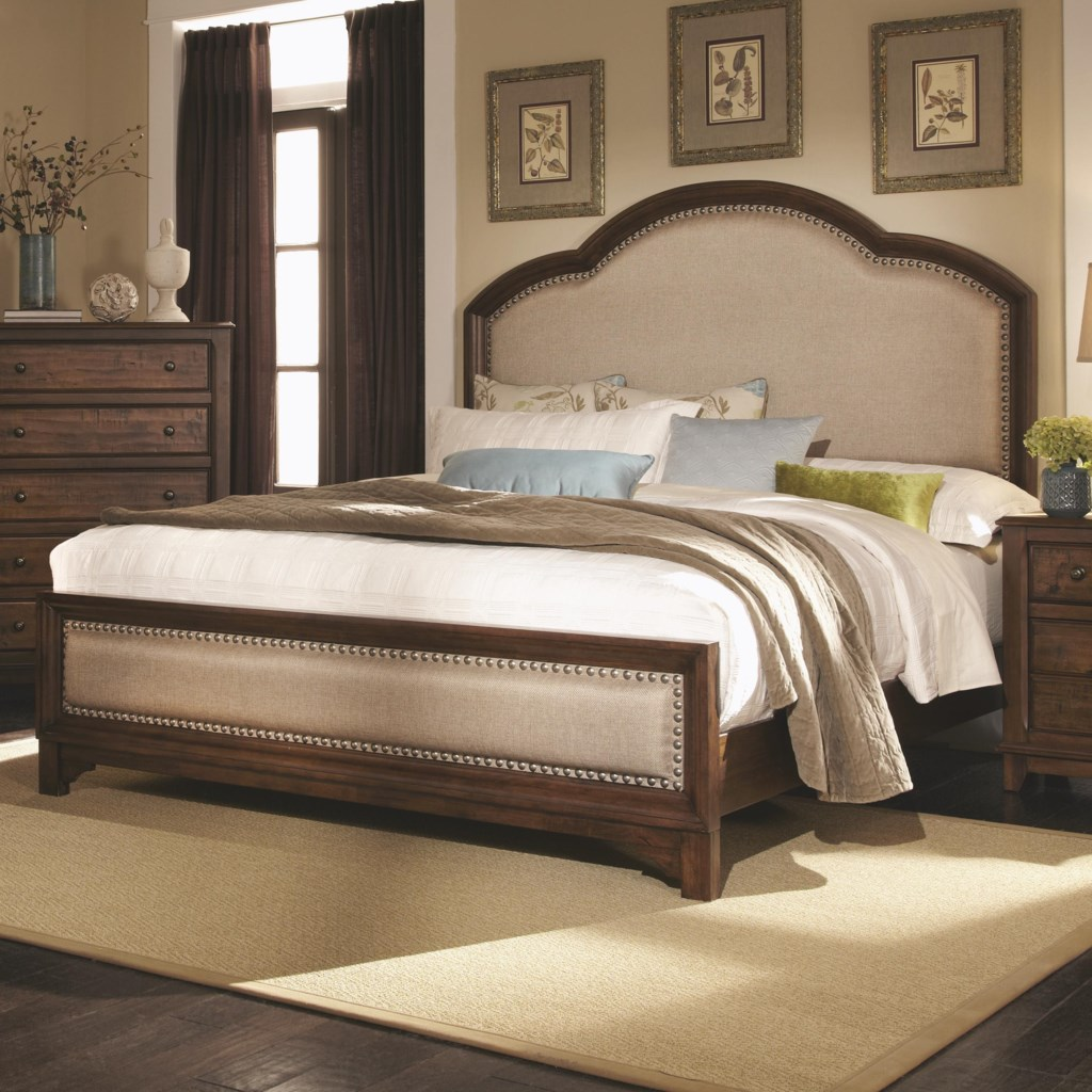 Coaster laughton casual queen upholstered bed