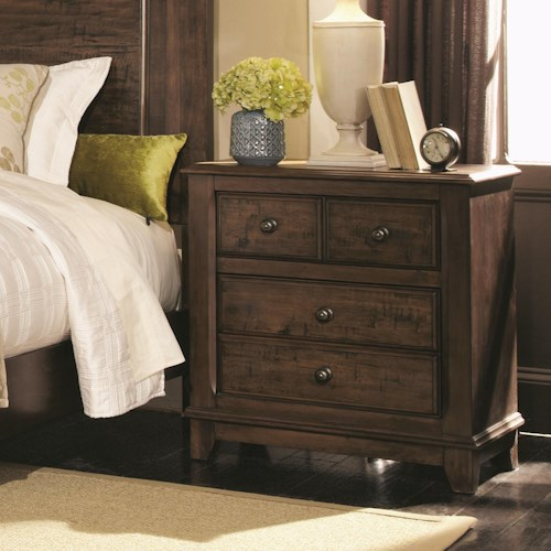 Coaster Laughton Casual 2 Drawer Nightstand