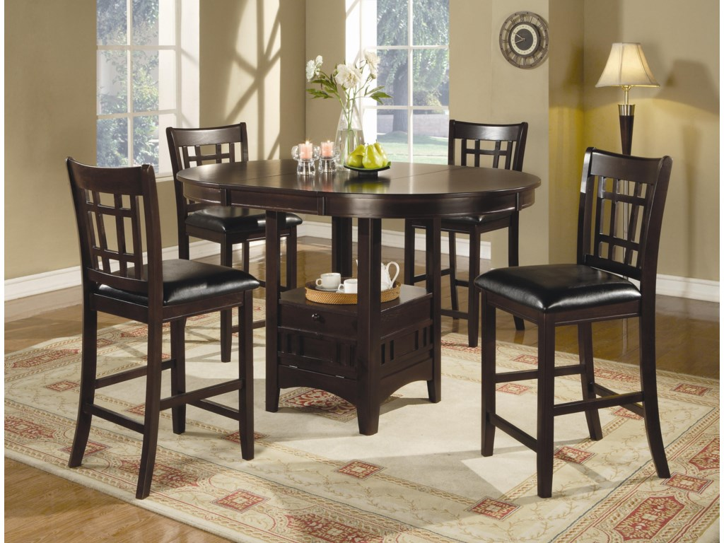 Coaster Lavon5 Piece Counter Table and Chair Set