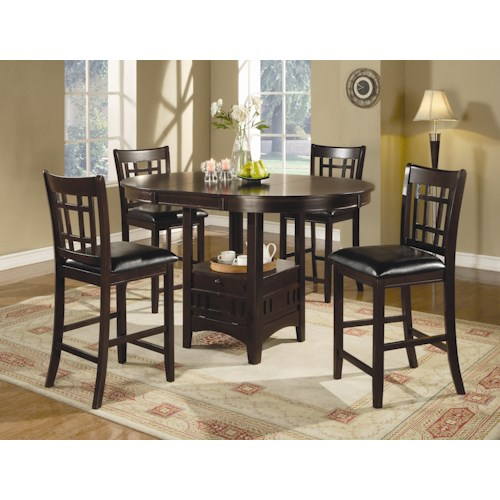 Coaster Lavon 7 Piece Counter Table and Chair Set