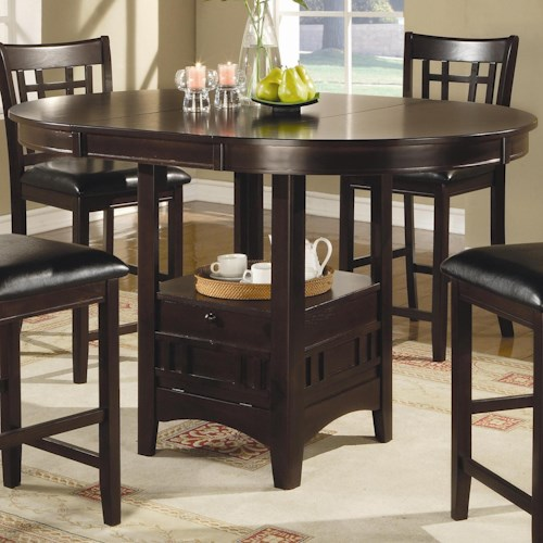 Coaster lavon 102888 counter height table northeast factory direct coaster lavon counter height table watchthetrailerfo