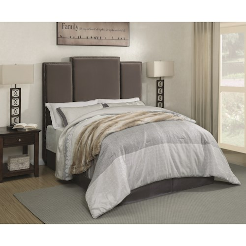 Coaster Lawndale Queen Upholstered Headboard in Grey Velvet