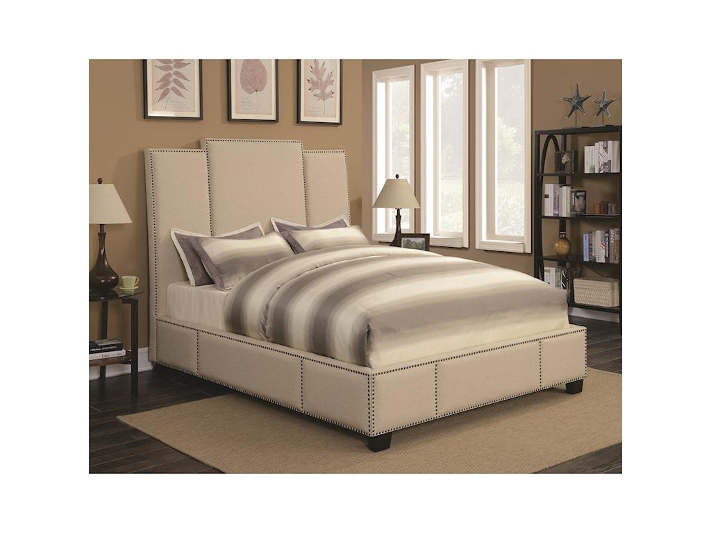 Coaster LawndaleCalifornia King Upholstered Bed