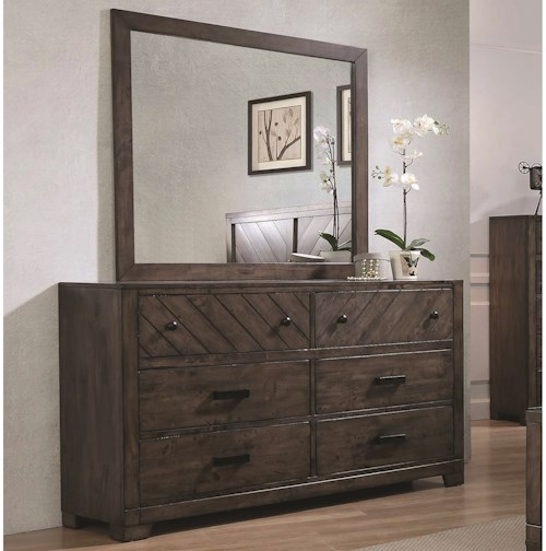 Coaster Lawndale 6 Drawer Dresser with Landscape Mirror