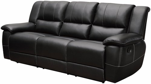 Coaster Lee Transitional Motion Sofa with Pillow Arms
