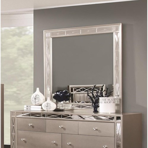 Coaster Leighton Beveled Dresser Mirror