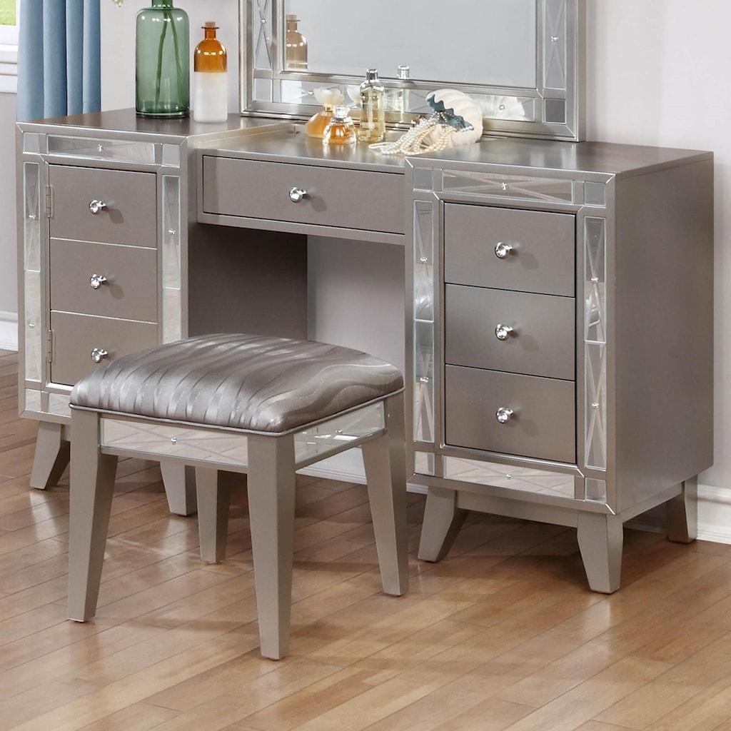 Coaster leightonvanity desk stool