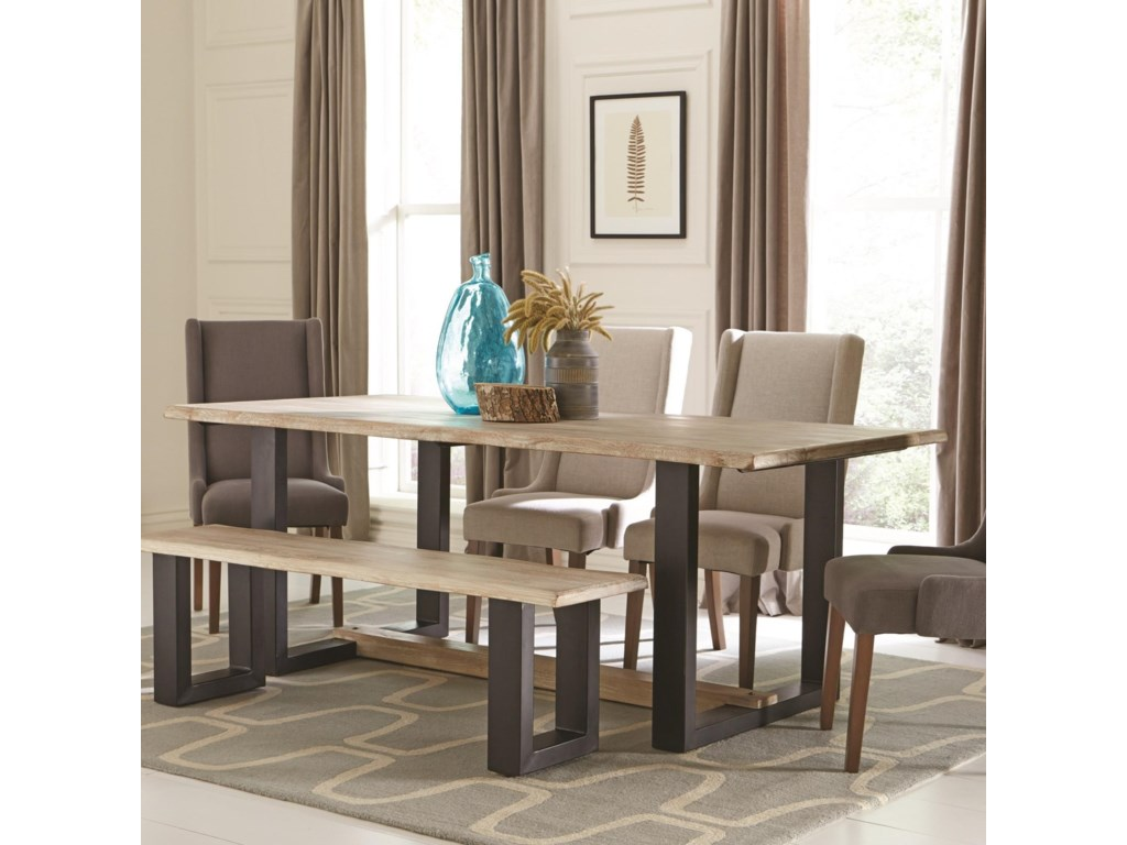 Levine Contemporary Dining Table With U Shaped Base By Coaster