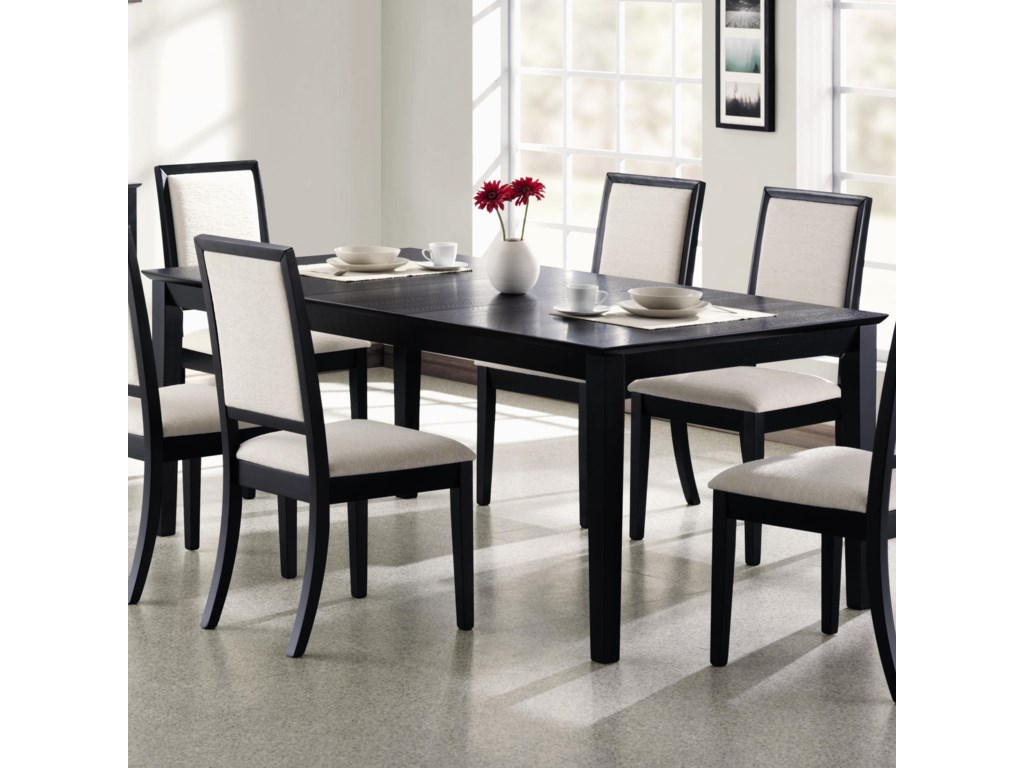 Lexton Rectangular Dining Table With 18 Leaf By Coaster