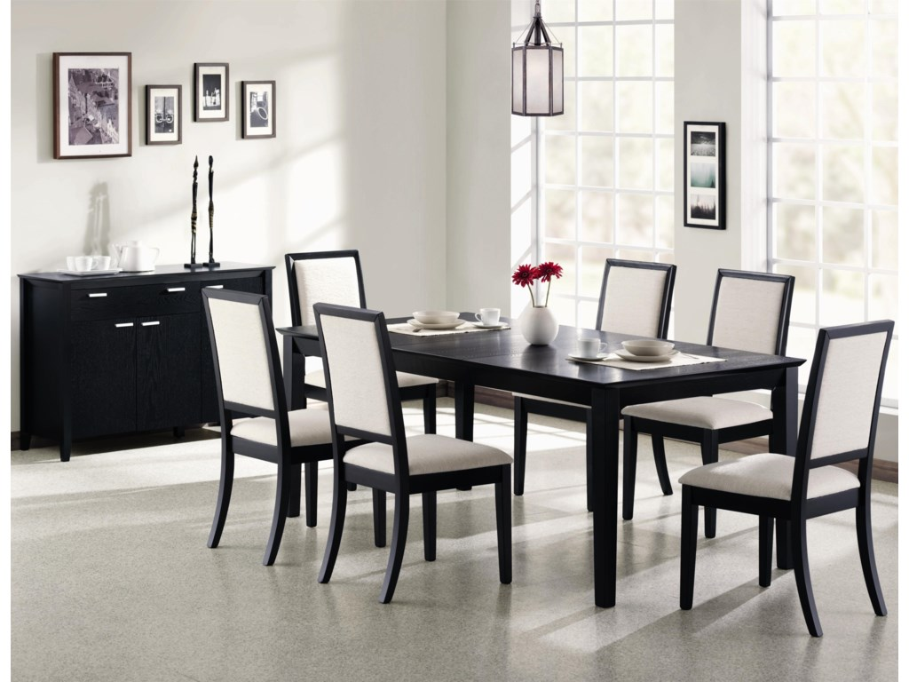 Shown with Upholstered Side Chairs and Server