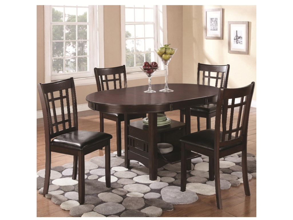 Lavon 5 Piece Dining Set With Storage Table By Coaster At Value City Furniture