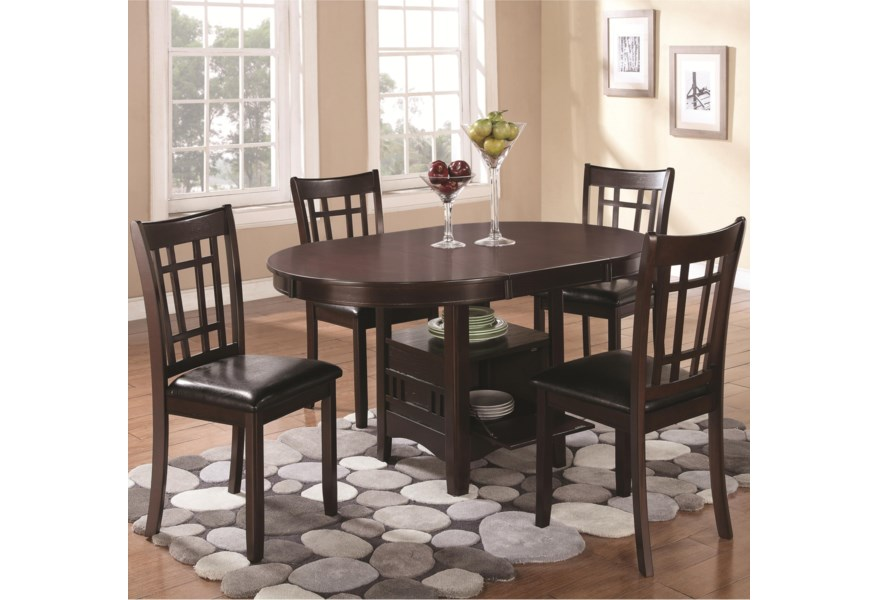 Coaster Lavon 5 Piece Dining Set With Storage Table Value City