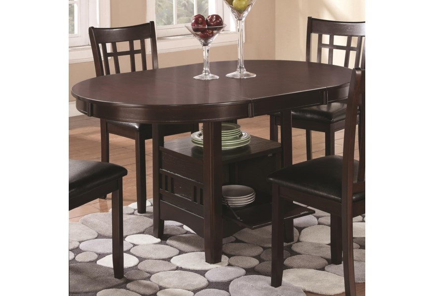 Coaster Lavon Dining Table With Storage Rife S Home Furniture Kitchen Tables