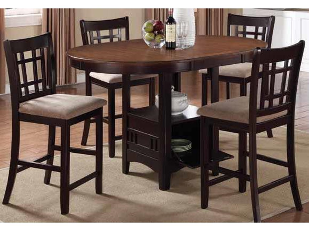 Coaster Lavon5 Piece Counter Height Table Set