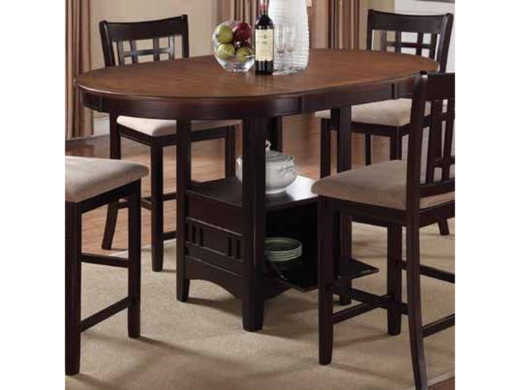 Coaster Lavon 105278 Casual Counter Height Table With Storage Base