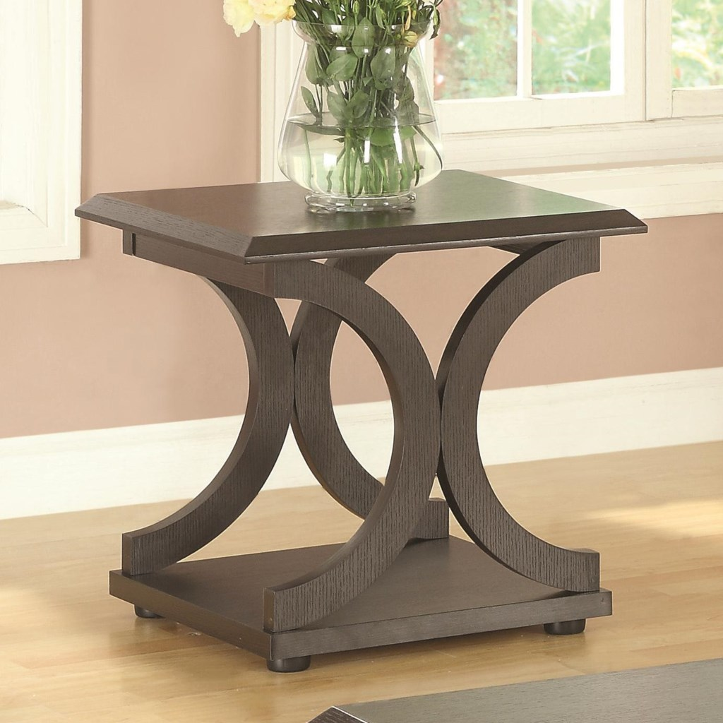 Coaster 703140 C Shaped End Table Value City Furniture End Tables