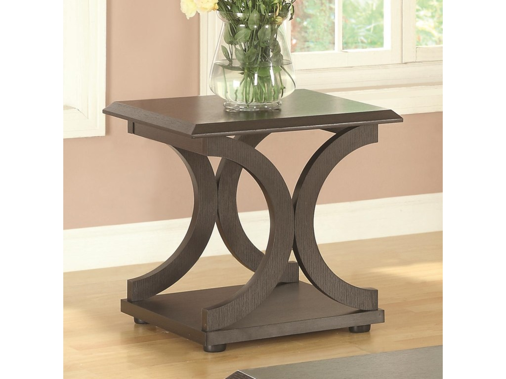 703140 c shaped end table by coaster