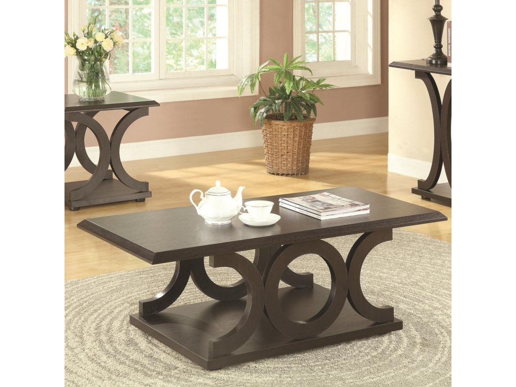 703140 C Shaped Coffee Table By Coaster