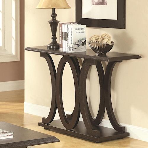 Coaster 703140 C Shaped Sofa Table Standard Furniture Sofa