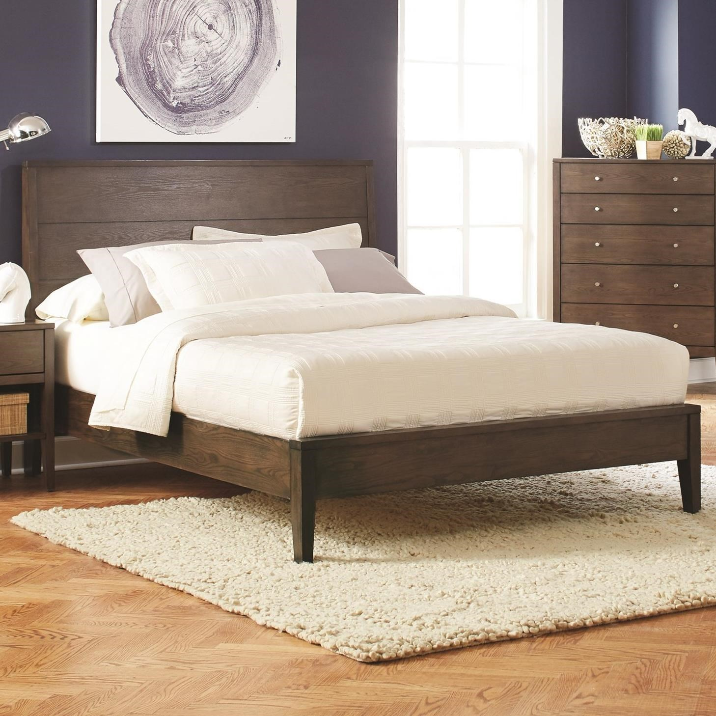 queen platform frame build your own coaster lompocqueen bed lompoc midcentury queen platform miskelly furniture