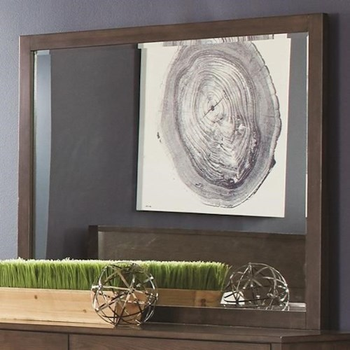 Coaster Lompoc Dresser Mirror in Ash Brown Finish