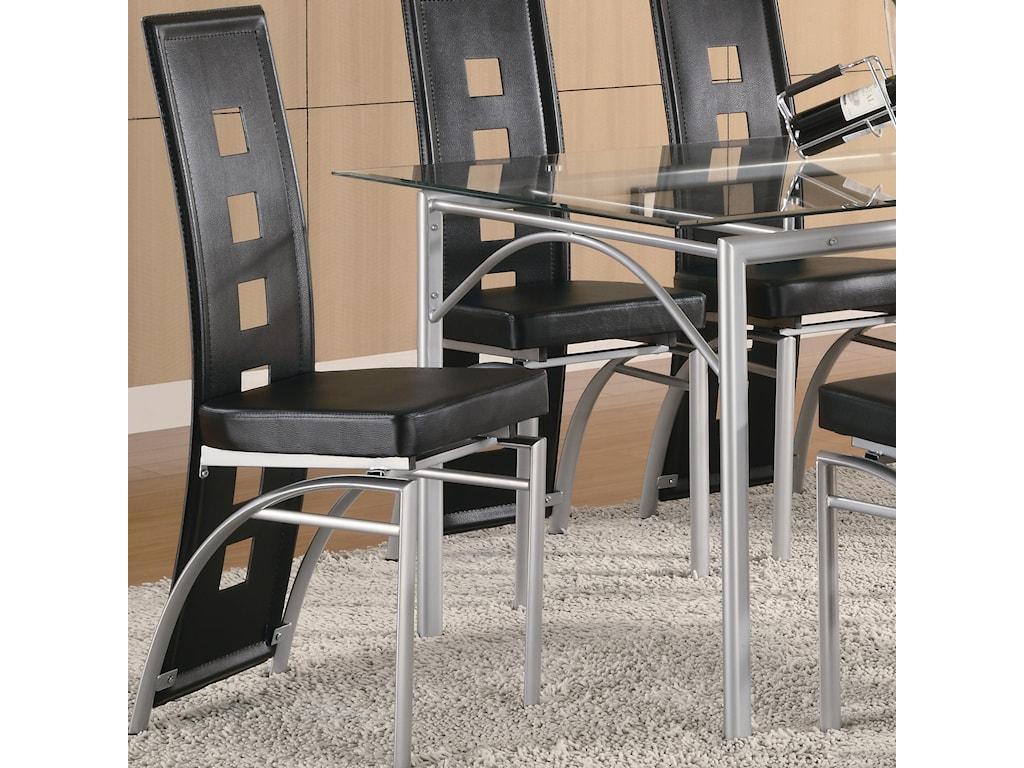 Coaster Los FelizDining Chair (Black)
