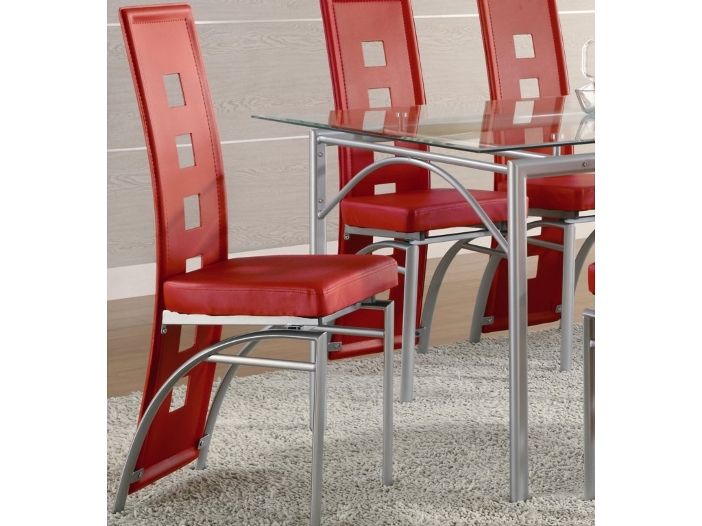Los Feliz Red Contemporary Dining Chair By Coaster
