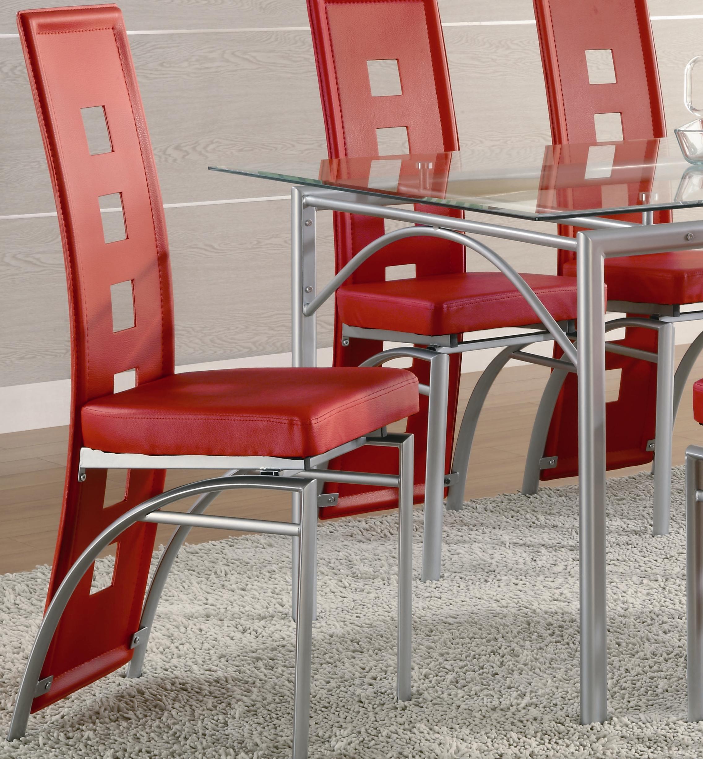 Coaster Los FelizDining Chair (Red) ...