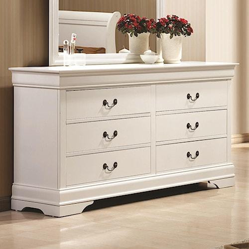 Coaster Louis Philippe 204 6 Drawer Dresser