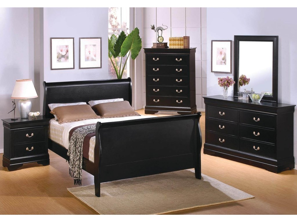 Shown with Chest, Nightstand, and Sleigh Bed