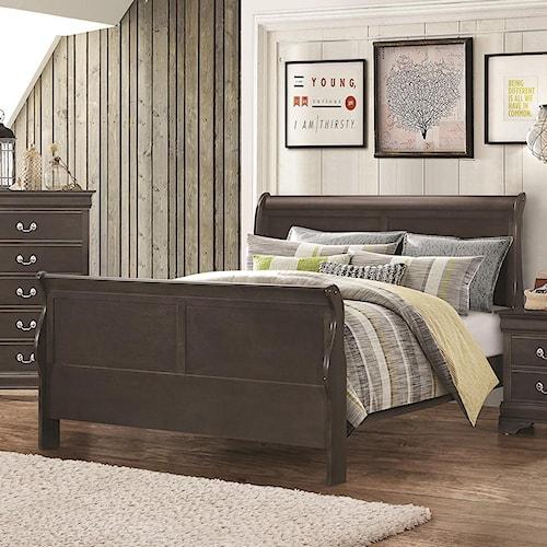 Coaster Hershel Louis Philippe Queen Sleigh Panel Bed