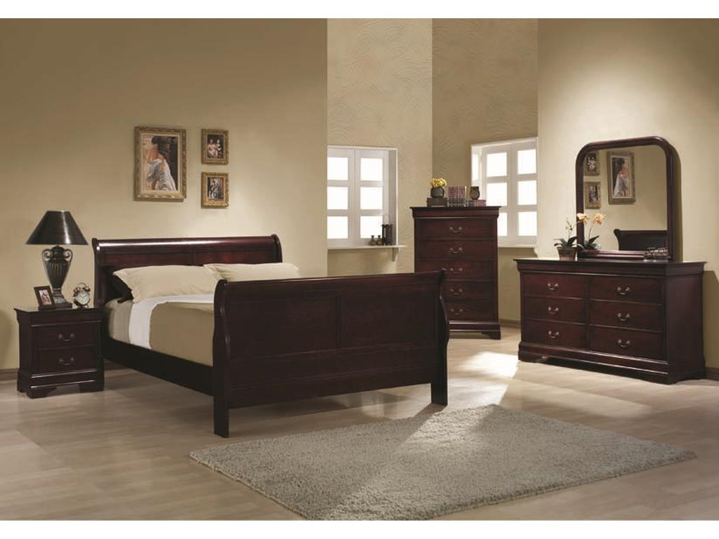 Collection # 2 Louis PhilippeQueen Sleigh Bed