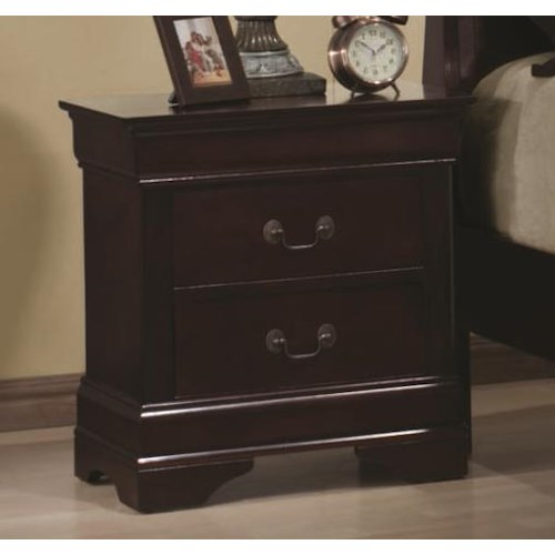Coaster Louis Philippe 2 Drawer Night Stand
