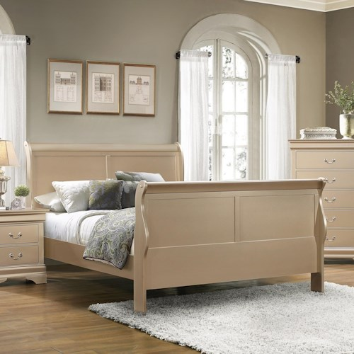 Coaster Louis Philippe Full Sleigh Panel Bed