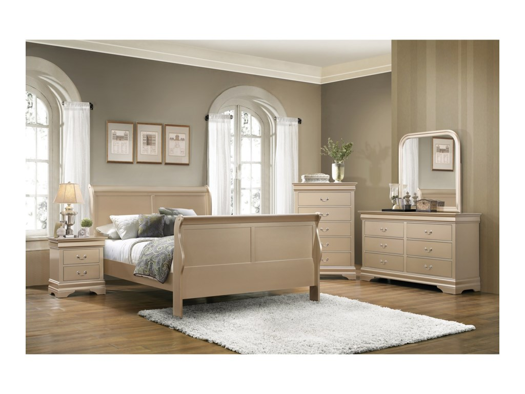 Coaster Louis PhilippeQueen Sleigh Bed