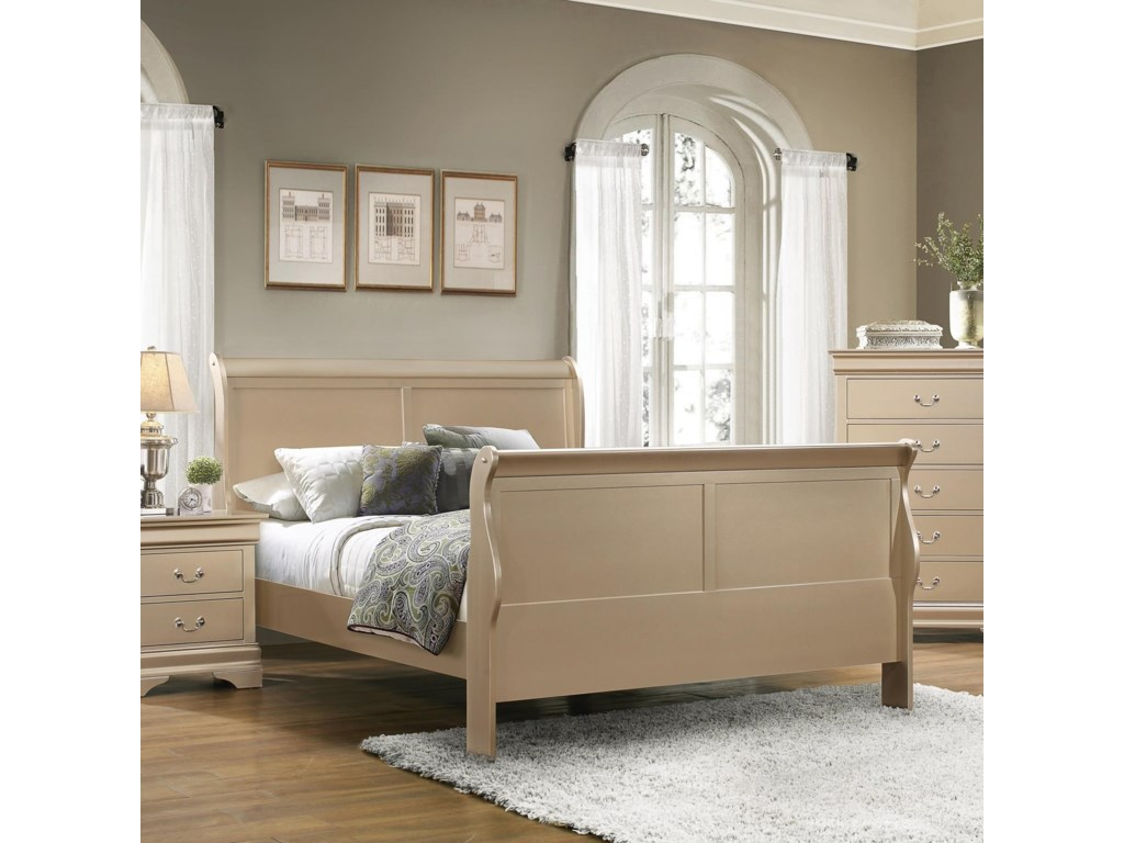 Rooms Collection Two Louis PhilippeQueen Sleigh Bed