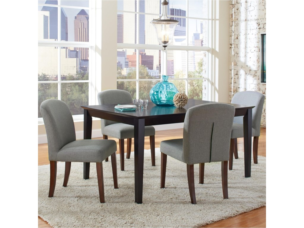 4594507b7a440 Coaster Louise Transitional Table and Four Chair Set