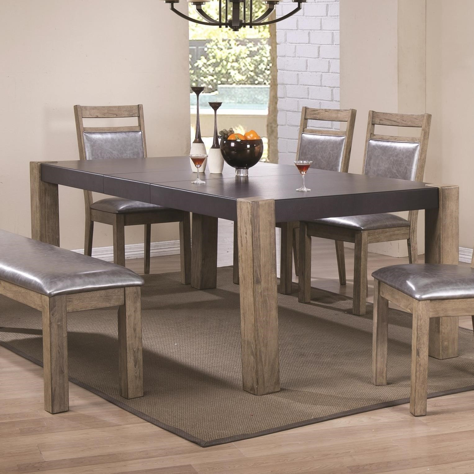 coaster ludolf twotone finish dining table with butterfly leaf