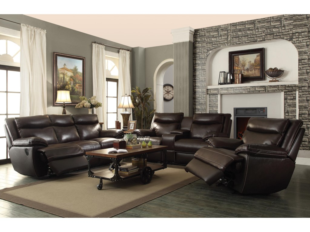 Coaster MacPhersonPower Motion Loveseat With Con
