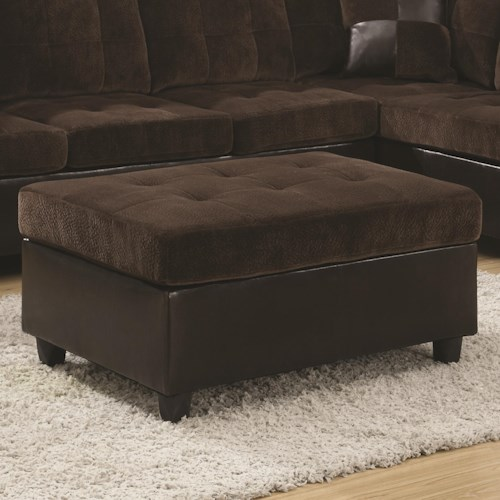 Coaster Mallory  Casual and Contemporary Ottoman