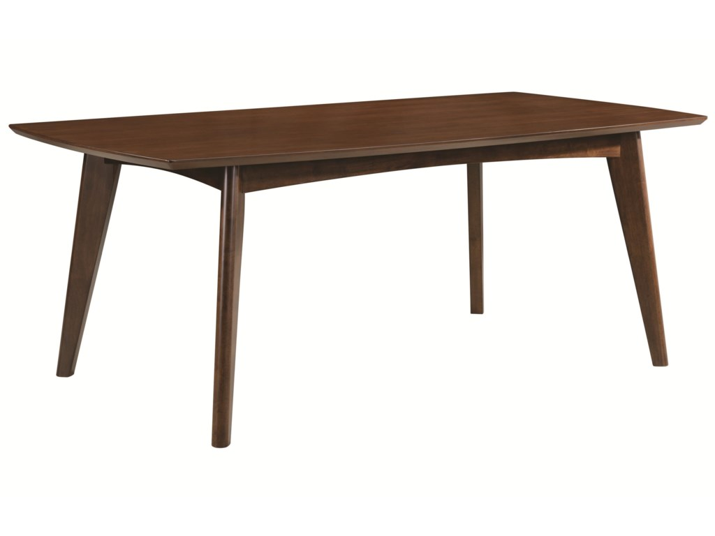 coaster malone 105351 mid century modern casual dining table dunk
